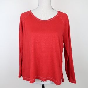 Madewell 100% Linen Anthem Raglan Long Sleeve M